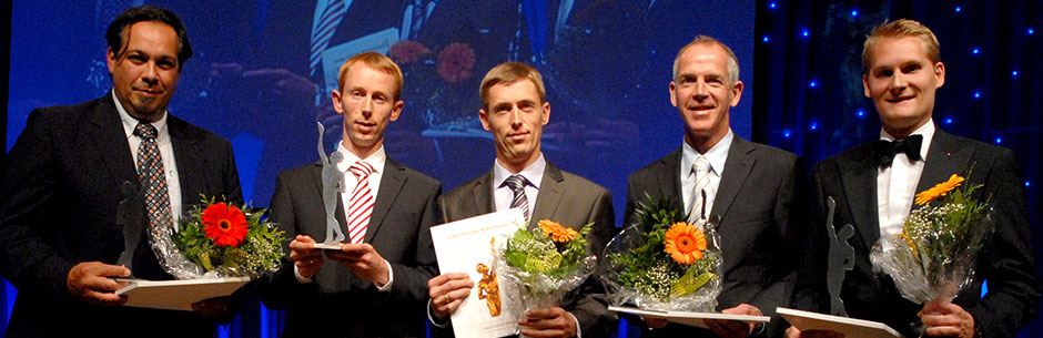 Przyjęcie odznaczenia przez prezesów firmy Lampenwelt: Thomasa i Andreasa Rebmann