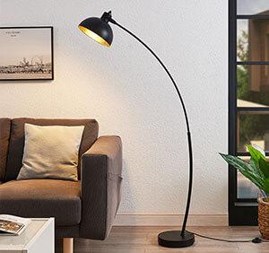 Lampy stojące w kształcie łuku Phileas