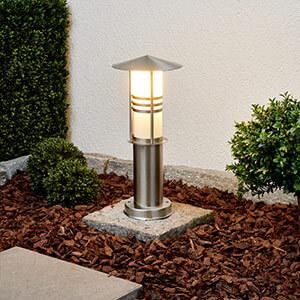 Dekoracyjna lampa na cokół ERINA, stal szlachetna (9960030)