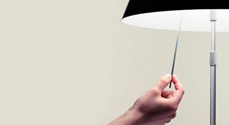 Dekoracyjna lampa stołowa LED Costanza, niebieska
