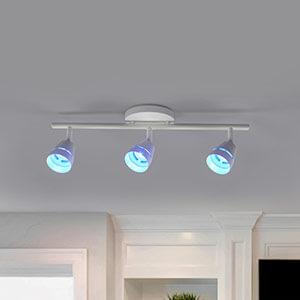 Trzypunktowy spot sufitowy LED Ivory z pilotem