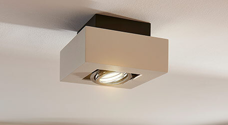 Kwadratowy spot LED VINCE, biały