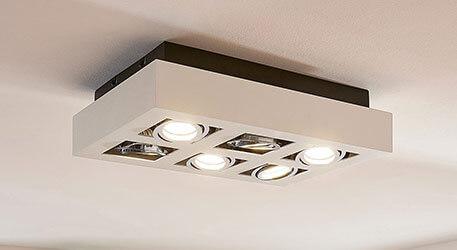 6-punktowy spot sufitowy LED VINCE, biały