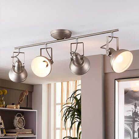 Lampa kuchenna LED Tameo w kolorze niklu