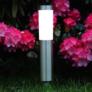 Cylindryczna lampa LED wbijana w ziemię Freya