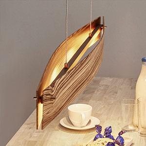 Drewno zebrano - lampa wisząca LED MALU