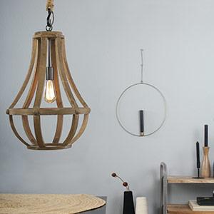 Drewniana Lampa wisząca Liberty Bell