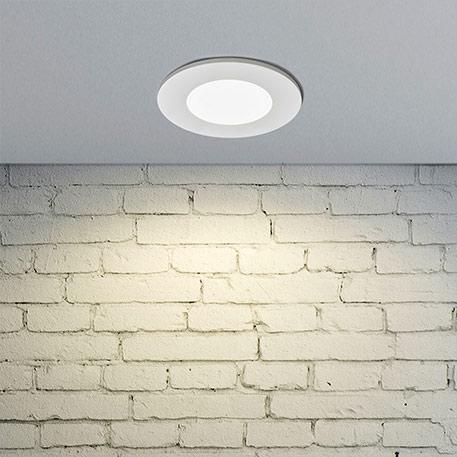 Oprawa wpuszczana LED Kamilla, biała, IP65