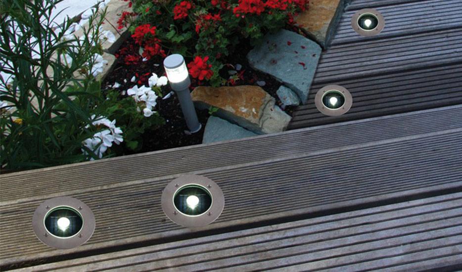 Solarna oprawa podłogowa z wbudowaną diodą LED Verona