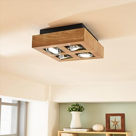 Drewniane lampy sufitowe