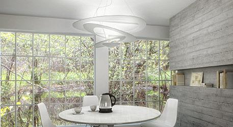 Designerskie zawieszenie LED Pirce Micro w kolorze białym