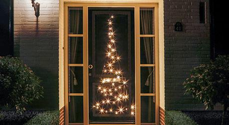 Sylwetka choinki drzwi Fairybell® - 2,10 m