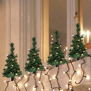 Choinka na Boże Narodzenie do przyklejania 4-częściowego zestawu