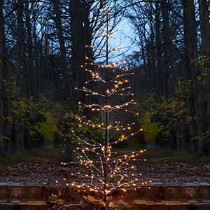Śnieżny błyszczące drzewo LED Isaac
