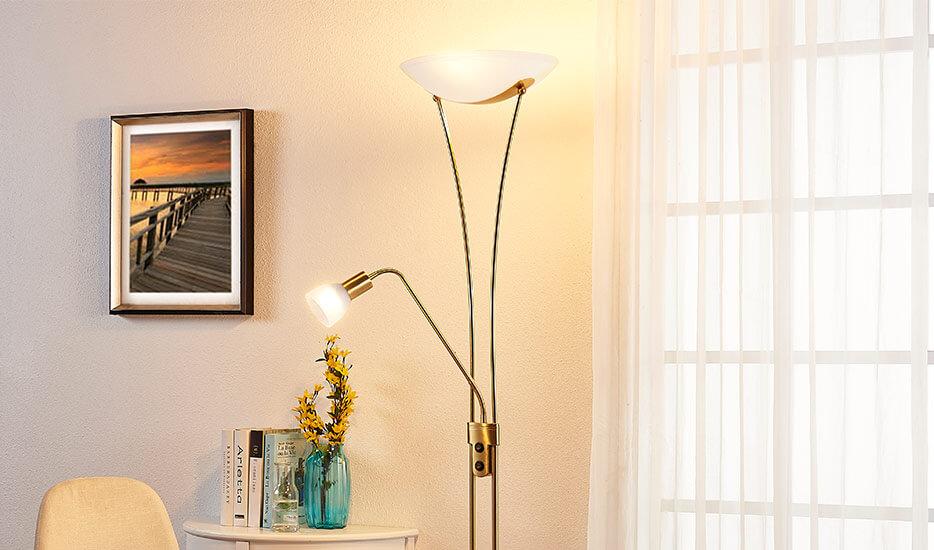 Lampa LED oświetlająca sufit Felicja z lampką