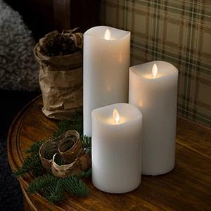 Zapachowy wosk świecowy LED z wyłącznikiem czasowym 23 cm