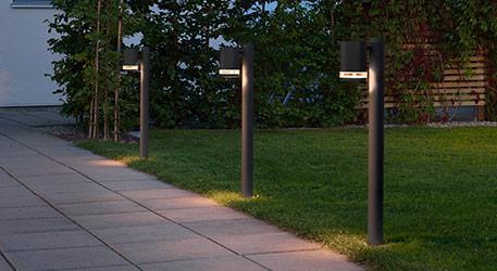 Słupki oświetleniowe LED