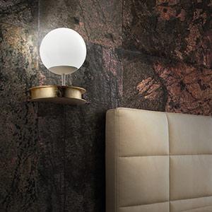Wytworny kinkiet LED Sfera, złoty