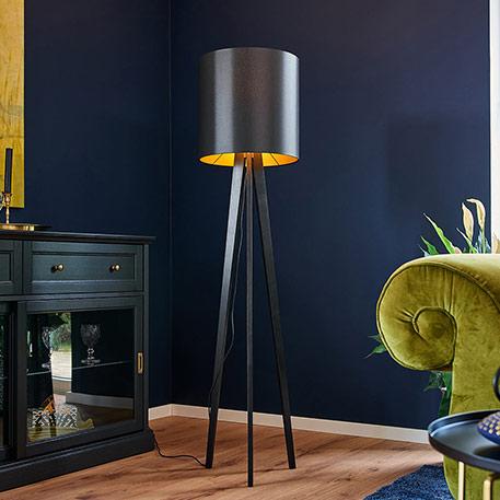 Lampy stojace z materialu