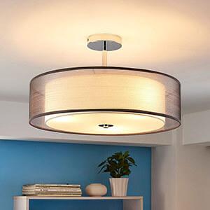 Lampy sufitowe z materiału