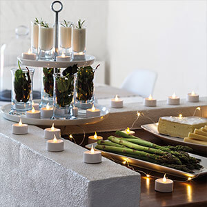 Lekko migoczące światło LED herbaty Samotny 6er-Set