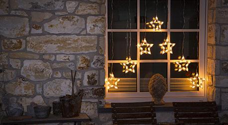 Wielkie gwiazdy kurtyny świetlnej LED 70-flg.