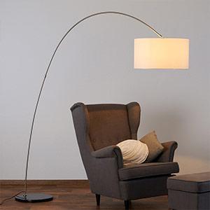 Materiałowa lampa stojąca ALIA