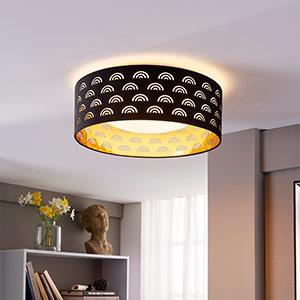 Jorunn - czarno-złota lampa sufitowa LED